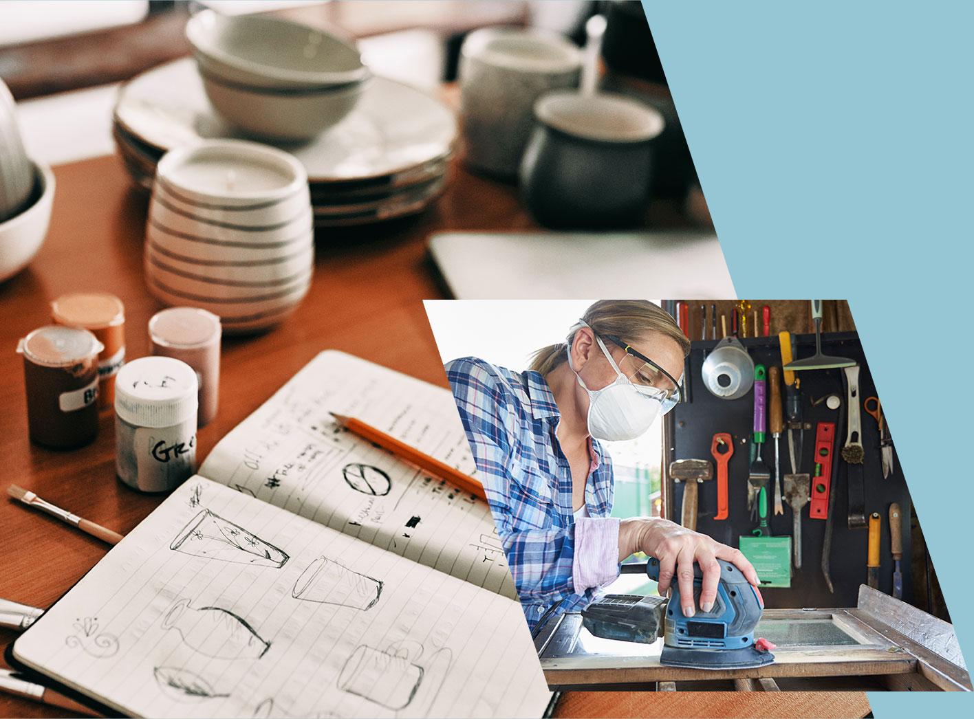 Werkstatt für Upcycling und Keramik